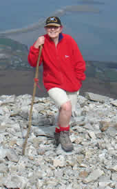 Mary Russell on Croagh Patrick
