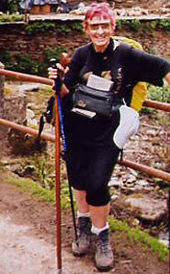 Mary Russell on the Camino de Santiago